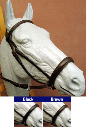 English padded leather Bitless Bridle