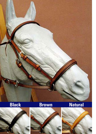 Western leather Bitless Bridle