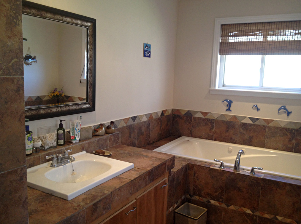 Bathroom - built-in sink