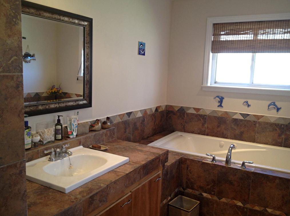 Bathroom - built-in sink