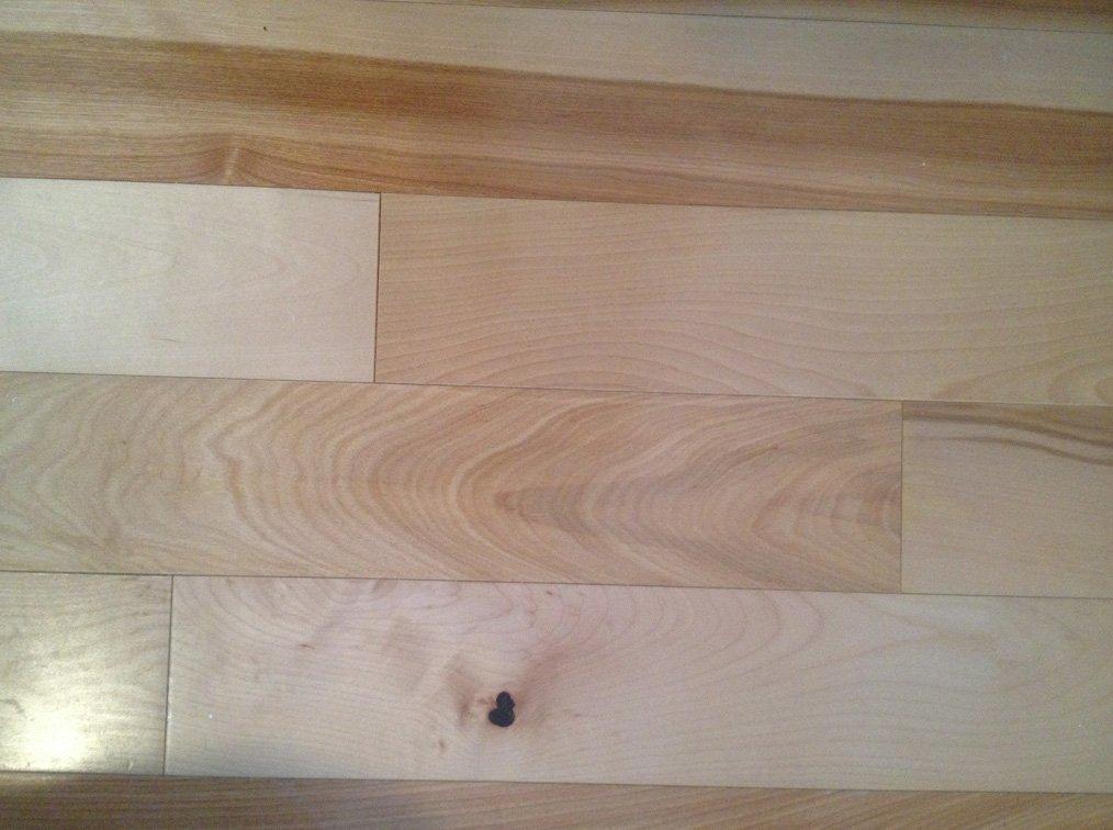 Maple hardwood flooring in the bedrooms